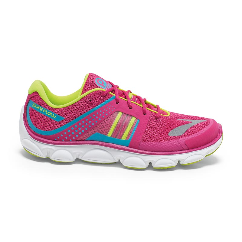 Zapatillas running de asfalto Brooks Kids PureFlow 4 rosa-1