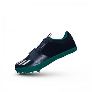 Zapatillas para salto de pista Adidas Jumpstar verdes-1