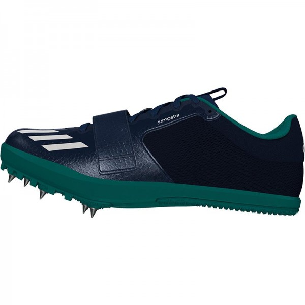 Zapatillas para salto de pista Adidas Jumpstar verdes-10