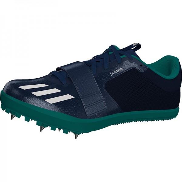Zapatillas para salto de pista Adidas Jumpstar verdes-11