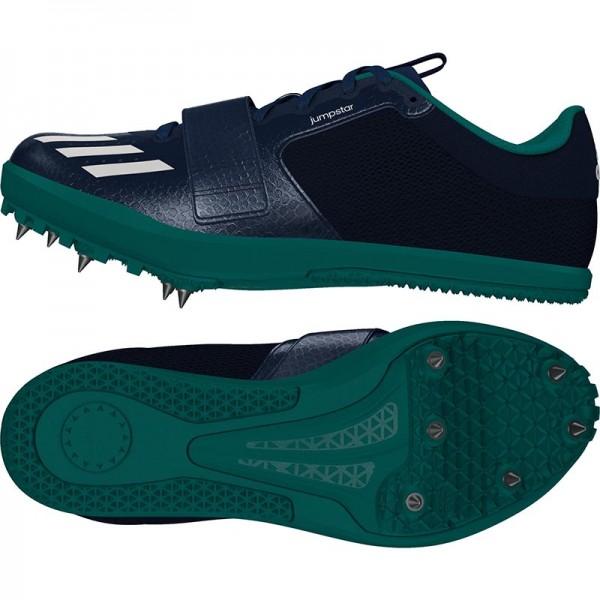 Zapatillas para salto de pista Adidas Jumpstar verdes-12