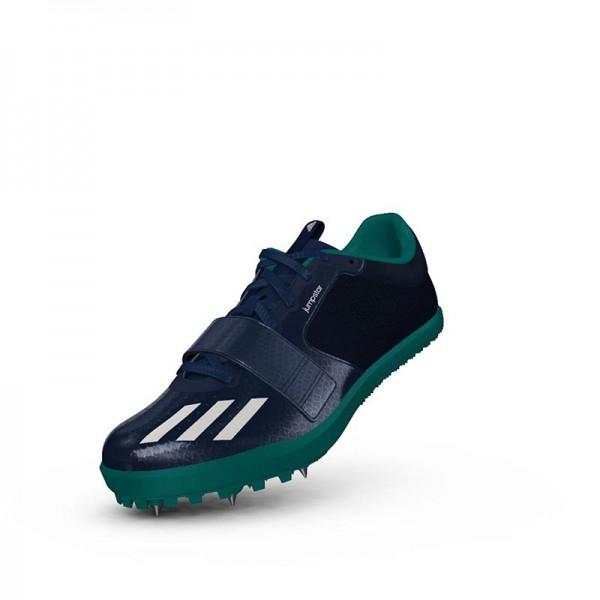 Zapatillas para salto de pista Adidas Jumpstar verdes-4