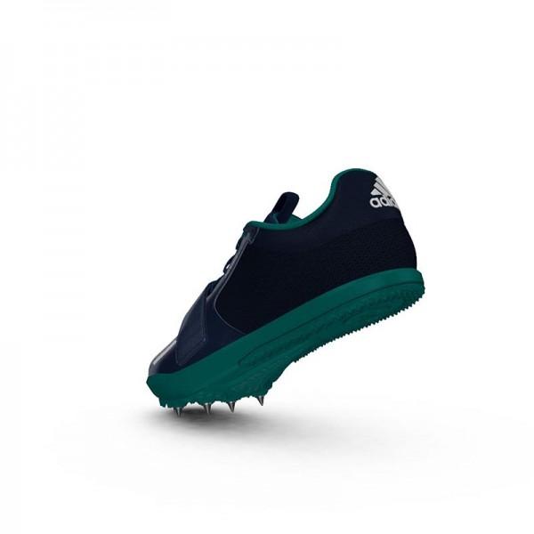 Zapatillas para salto de pista Adidas Jumpstar verdes-7